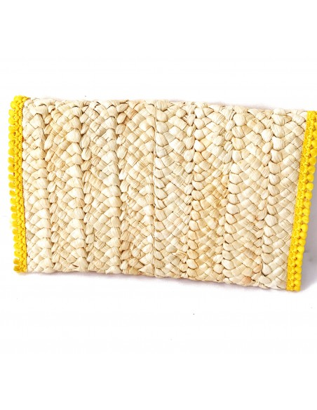 borsa mare in paglia realizzata a mano