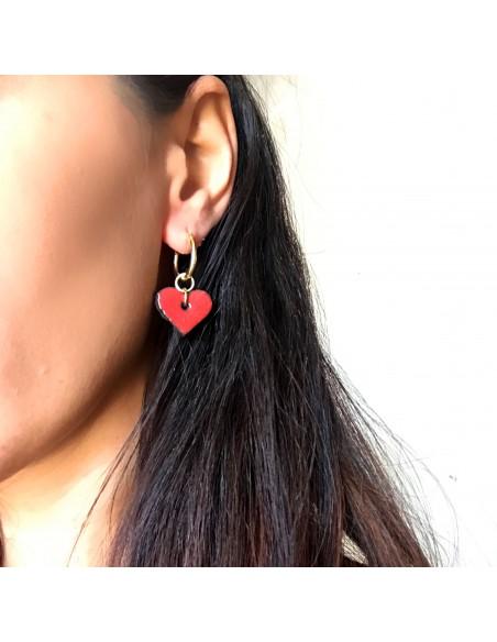 orecchini cuore in argento sterling 925 - gioielli siciliani