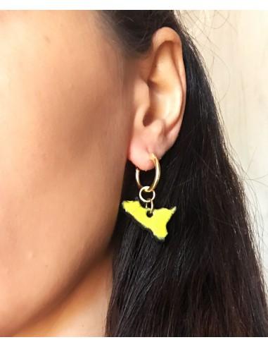 orecchini Sicilia in pietra lavica