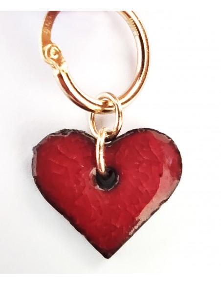orecchini cuore in pietra lavica  - gioielli made in Sicily
