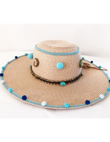 cappello in paglia da mare realizzato a mano