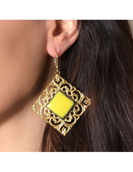 gioielli in pietra lavica - orecchini pietra lavica