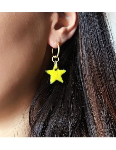 orecchini in pietra lavica dell'Etna - orecchini stella