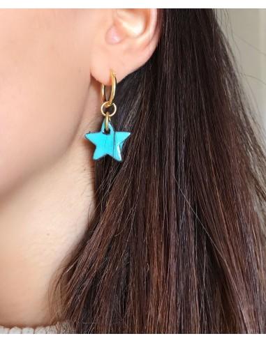 orecchini stella verde tiffany - orecchini siciliani
