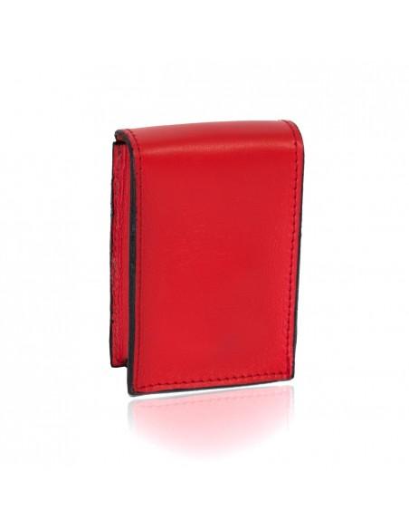 portasigarette rosso in vera pelle portasigarette uomo o donna