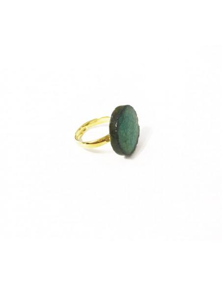 anello donna con pietra color acqua marina