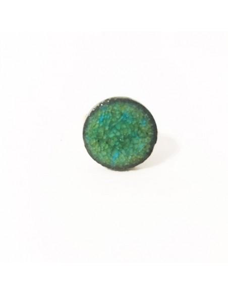 anello con pietra acqua marina - anello in pietra lavica