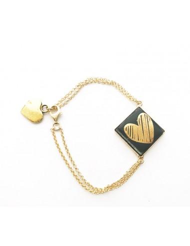 bracciale in argento 925 con charm cuore - ciondolo cuore